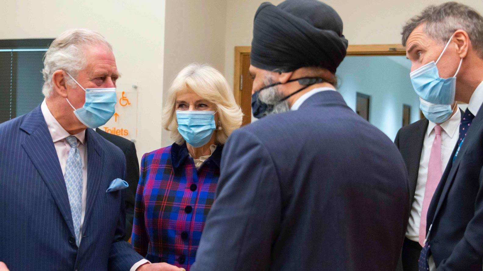 Medical staff and their Royal Highnesses The Prince of Wales and The Duchess of Cornwall